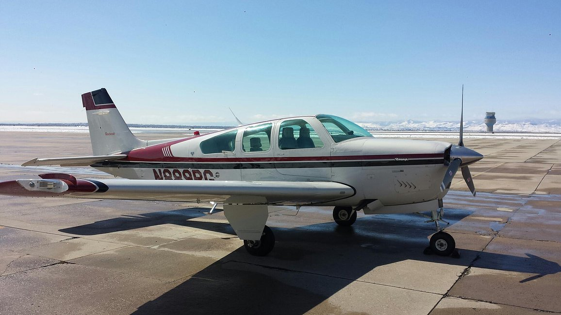 Beech F33A Bonanza-ferry-pilot-wyoming-to-kansas